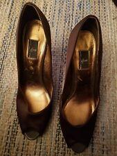 Glint High Heals Dark Brown Great Condition - Size 10 Genuine Leather Sole