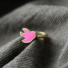 Woman Ring Enamel Bird Delicate Swallow Purple Original Evening Marriage Z3