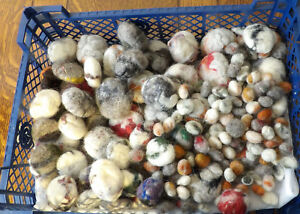 Felt Pebbles, Handmade Decoration, Mixed Colour and Size Pack, Soft Wool & Silk