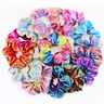 8PCS Laser Metallic Scrunchies Hair Bands Elastic Scrunchy Hair Ties Ropes Girl