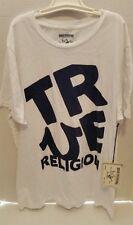Men's True Religion T Shirt sz XXL. TTG  White Big Block SS Crew Graphic T