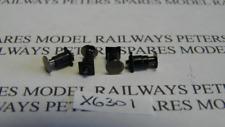 Hornby X6301 Class B17 Sprung Buffer Pack - Black (Pk4)
