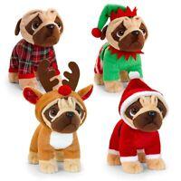 Keel Toys Pugsley Pug Dog Christmas Plush Stuffed Animal Toy 25cm *FREE DELIVERY