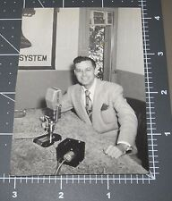 RADIO Show Early MICROPHONE Man Announcer Vintage Snapshot PHOTO Bell Telephone