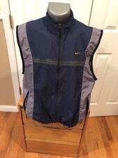 Bintage Nike Vest Size Large Navy Black Blue Full Zip Sleeveless Pockets