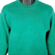 Fruit Of The Loom Blank Sweatshirt Vintage 90s Green Made In USA Size Medium