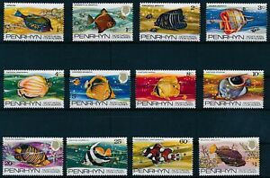 [P15249] Penrhyn 1974 : Fishes - Good Set Very Fine MNH Stamps - $30