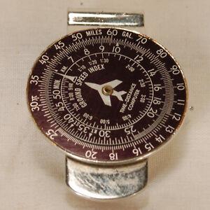 Vintage Aviation Ground Speed Index Computer Money Clip