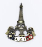 """3D Metal Fridge Magnet """"Eiffel Tower Paris France"""" Souvenir Gift Good Quality"""