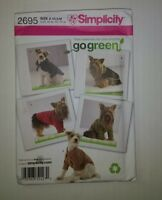 Simplicity 2695 Dog Clothes in Three Sizes
