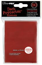 Ultra Pro Lava Red 50 Count Pack Standard Deck Protector Sleeves Pre 2018