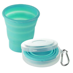 Bicchiere Pieghevole BLU 200ml BRUNNER Silicone Scuola Viaggio Campeggio Auto