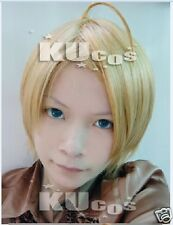 APH Hetalia Axis powers America Short USA Anime Cosplay Costume Wig  +CAP +TRACK