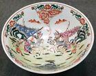 Circa 1920 Chinese Famille Verte Porcelain Battle Motif Punch Bowl  Tongzhi