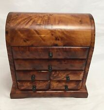 Exotic Moroccan Thuya Burl  Handcrafted Jewelry Box With Drawers