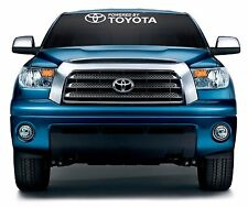 "powered by toyota logo  windshield vinyl  decal  sticker  31""  x 5"""