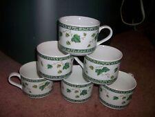 4 SANGO IVY CHARM TEACUPS COFFEE MUGS