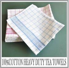 12 X 100% Cotton Heavy Duty Extra Large Premium Quality Tea Towels STRIP 52x69cm