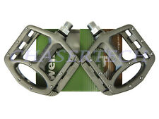 "New Wellgo MG-1 BMX Bicycle Bike Magnesium Pedals 9/16"" Gray"