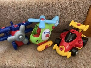 ELC Build And Play Plane and Racing Car and Helicopter ONLY