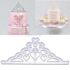 2Pcs Silicone Princess Crown Fondant Mold Cake Decor Chocolate Sugarcraft Mould