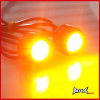 Universal Mirror Mount Amber CREE LED Projector Turn Signal / Marker Lights