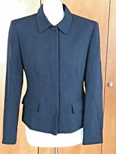 Episode Studio Elegant & Smart Blue Wool Blend Jacket – UK Size 8