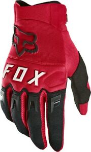 NEW Fox Racing Dirtpaw MTB BMX MX Glove - Flame Red X-LARGE Full Finger Gloves