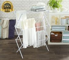 Foldable Drying Rack White Savings Gentle Clothes Portable Lightweight Move Room