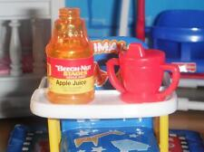 Barbie Little Krissy Beech Nut Apple Juice Red Sippy Cup fits Loving Family Doll