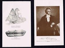 Charles Goodyear Inventor of Vulcanized Rubber - 1912 Print PLUS BONUS