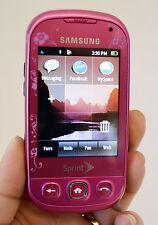 Samsung SEEK SPH-M350 Sprint Cell Phone PINK slider keyboard EVDO wireless Used