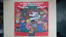 20 CHILDREN'S SONGS FOR CHRISTMAS Yulesong Cadet Records LP 70s