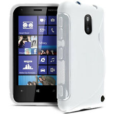 Nokia 620 Lumia - Housse de protection étui silicone souple - Blanc