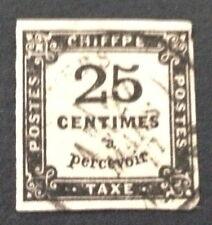 Timbre France Taxe, n°5, 25c noir, Obl, TB, Cote 65e.