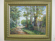 """""""Road in the Woods"""" oil on canvas, listed artist Irek T. Szelag"""