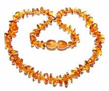 Genuine Baltic Amber Chips Baby Necklace for Child Mixed 13.8 - 14.6 in