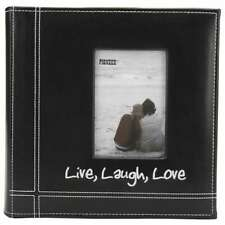 """Pioneer Embroidered Stitched Leatherette Photo Album 9""""X9"""" Live,  023602624054"""
