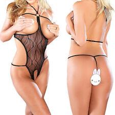 Sexy Women's Lingerie Open Bra Crotchless Teddy Nightwear Halter Sleepwear