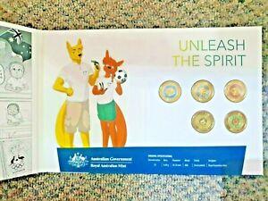 Tokyo 2020 Olympic Games Coloured $2 5 Coins Set in RAM Folder Australia: