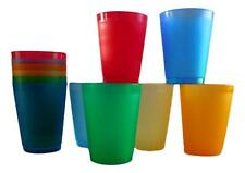 6 16 Ounce Frosted Flexible Glasses - 7 Color Choice - Unbreakable