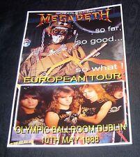 Megadeth Concert Poster-Olympic Ballroom,Dublin 1988 A3 Size Repro
