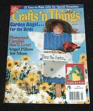Crafts 'n Things Magazine May 2000 - Garden Angel Flowerpot Candles Angel Pillo