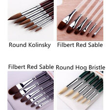 4Sets Painting Brush for Artist Craft Brush Oil Watercolor Acrylic Gouache Paint