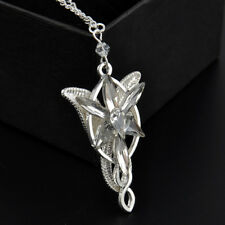 vintage Retro ARWEN'S EVENSTAR NECKLACE LORD of the Rings Silver pendant OneC0H