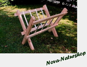 Heuraufe Holz 115x90 cm, Futterkrippe klappbar, Schafe, Ziegen, Stallzubehör