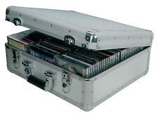 Aluminium Silver Citronic Metal Record Box DJ Flight/Storage Case Holds 96 CDs