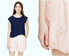 NEW! J Crew SZ 4 Pleated eyelet skort #a7310 ivory short skirt cotton