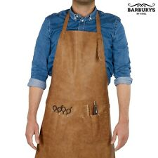 Barburys Mens Professional Barbering MASCUL Brown Synthetic Leather Apron