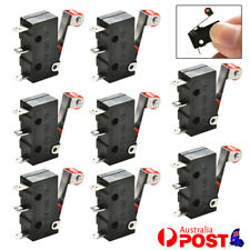 10x Micro Roller Lever Arm Open Close Limit Switch Kw11-B PCB Microswitch AU